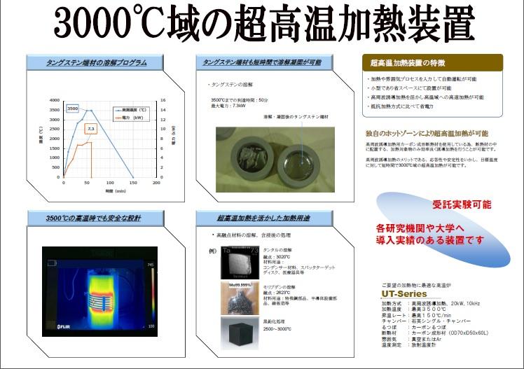 3000℃域の超高温加熱装置
